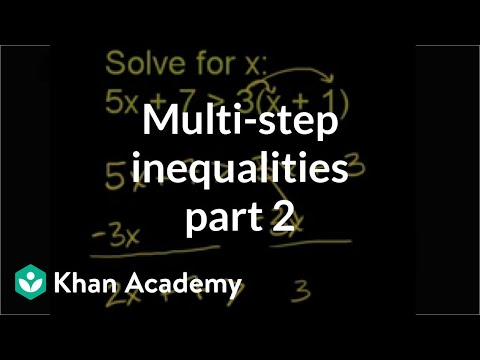 Multi-Step Inequalities 2
