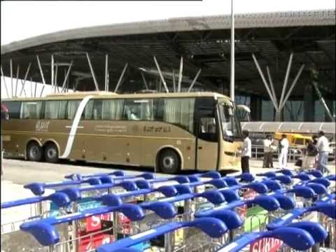Flybus- Luxury intercity Bus from Bangalore International Airport Coach.