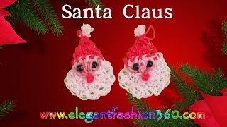 Rainbow Loom Santa Claus 2D Charms- How To Loom Bands
