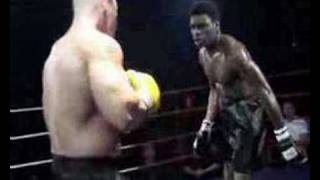 A montage of unlicensed boxing matches from London's Caeser's nightclub.