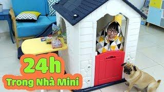 Thử Thách 24 Giờ Sống Trong Nhà Nhựa Mini