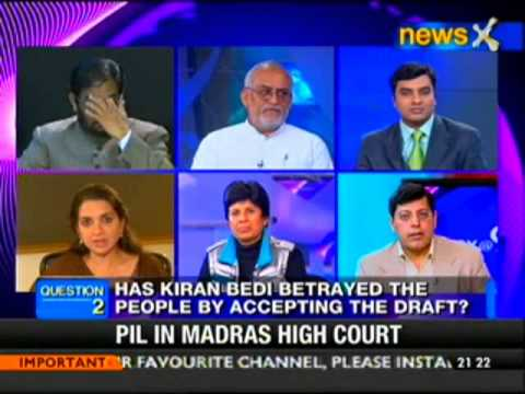 NewsX@9- Kiran Bedi backs amended Lokpal bill; Anna unhappy
