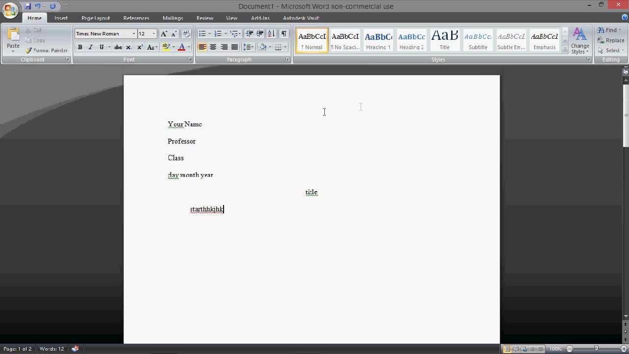 Mla Format On Word 2013