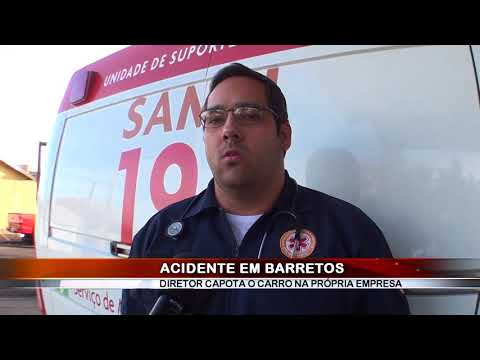 12/07/2018 - Diretor de frigorífico se envolve em acidente e cai com veículo no interior da própria empresa em Barretos