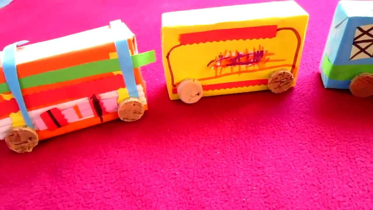 Arts crafts cardboard box and paper train youtube for Youtube art and craft