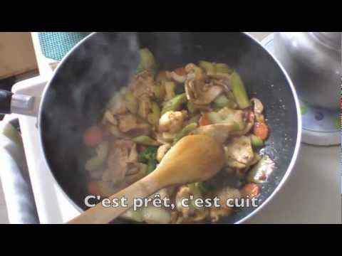 poulet au curry rouge (red curry chicken)