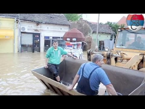 Recovery operations begin in flood-damaged Serbia - no comment