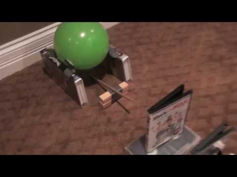 rube goldberg machine ideas to pop a balloon