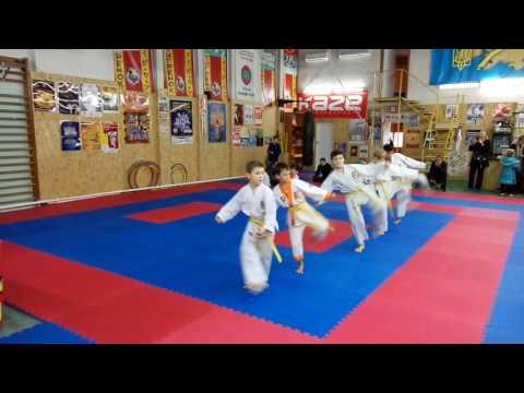 Аттестационный экзамен 06.11.2016 г. по каратэ в клубе Тигренок ч. 3