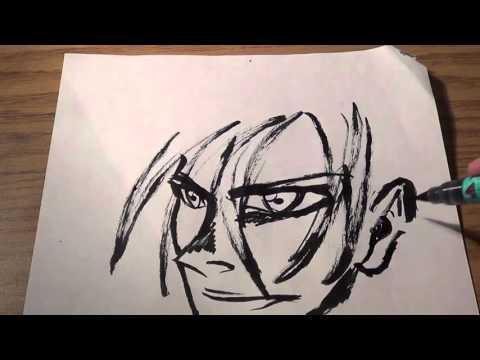 Fude Pen Quick Manga Sketch Practice