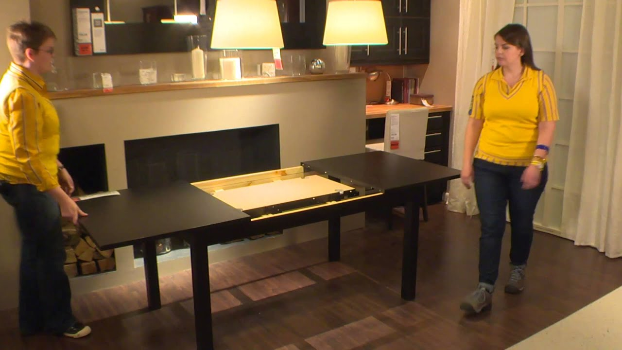 bjursta table ikea home tour youtube. Black Bedroom Furniture Sets. Home Design Ideas