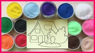 Đồ chơi trẻ em TÔ MÀU TRANH CÁT HÌNH NGÔI NHÀ Colored Sand Paiting (Chim Xinh)