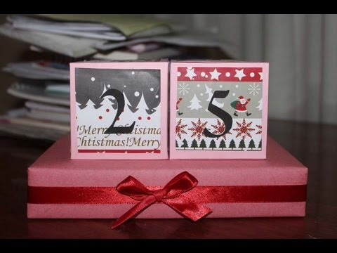 DIY Christmas Countdown Blocks Inspired By Bethany Mota YouTube
