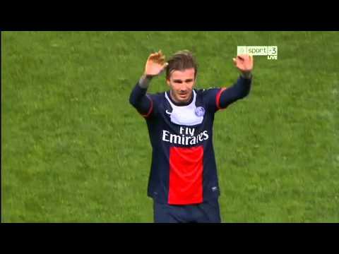 Beckham Last Match PSG 2013