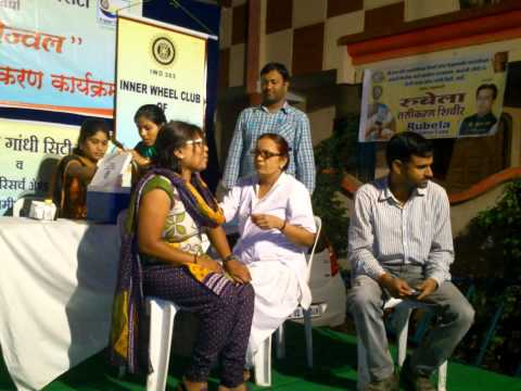 Rubella Vaccination Camp in Wardha , conducted by Community Medicine Dept Sawangi