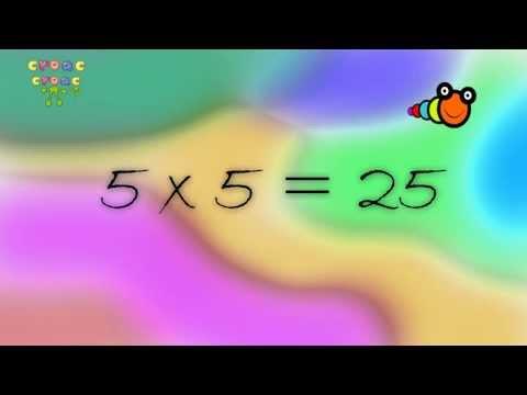 La tabla del 5 Canción de las tablas de multiplicar - Song of the multiplication tables, Croac Croac