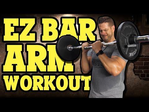 EZ Bar Arm Workout 💪 Biceps, Triceps & Forearms (7 Exercises)