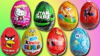 14 EPIC Kinder Surprise Eggs CRAZY UNPACKING! (part 3