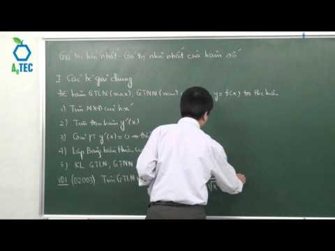 Giá trị lớn nhất & giá trị nhỏ nhất của hàm số-  PGS.TS. Vũ Đỗ Long- www.chuyentonghop.edu.vn