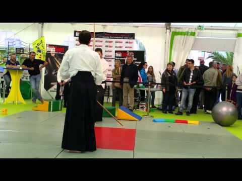 Bokken lors d'une petite démo d'aïkido