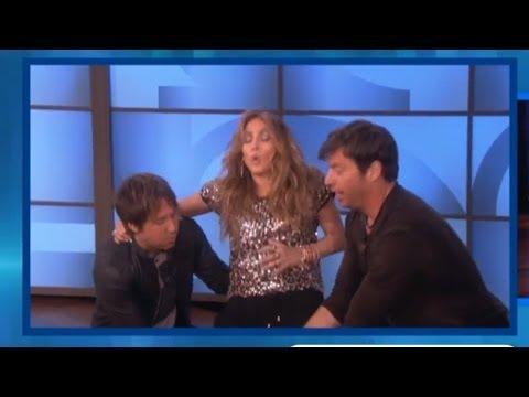 Jennifer Lopez & American Idol Judges Play