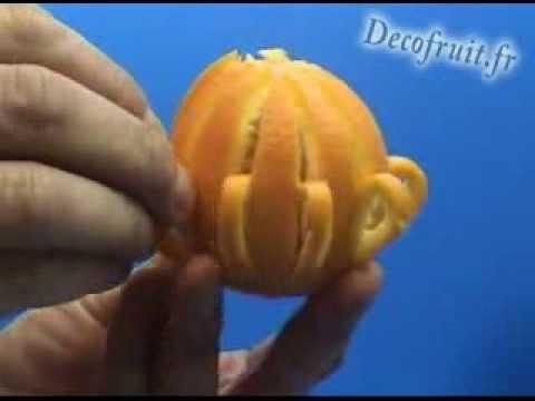 Decorarea unei portocale