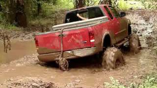 MUD TRUCKS MONSTER FORD F150 4x4 On Tractor Tires SINKS