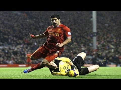 Did Luis Suarez Dive? Vs Aston Villa 2014