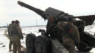 Міць артилерії. На приазовському напрямку в районі відведення тренувалися воїни-артилерісти