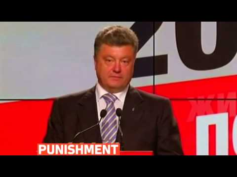 mitv - Ukraine's president-elect Petro Poroshenko vowes to punish pro-Russian rebels