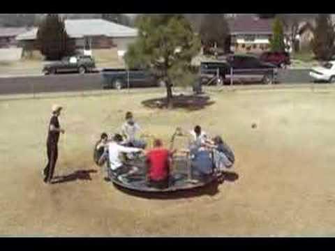 Açısal momentum Merry-go-round of Death x2 T3 - Angular Momentum
