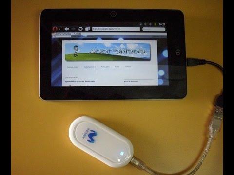 Conecta cualquier módem USB a cualquier tablet Android claro movistar bitel entel peru android