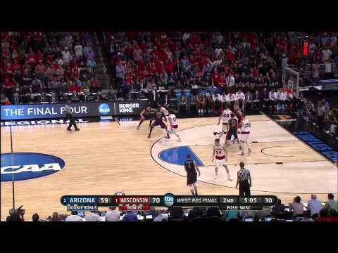 Arizona vs. Wisconsin: Josh Gasser 3-pt