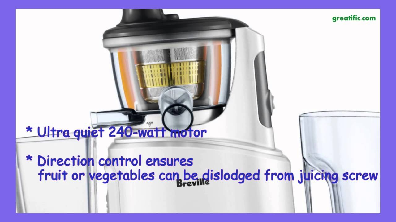 Breville BJS600XL Fountain Crush Masticating Slow Juicer - YouTube