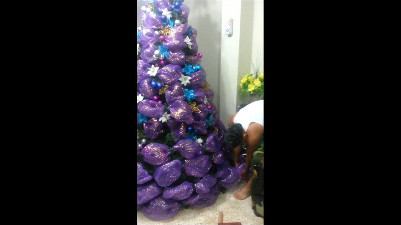 Como decorar un rbol de navidad youtube for Como decorar un arbol de navidad