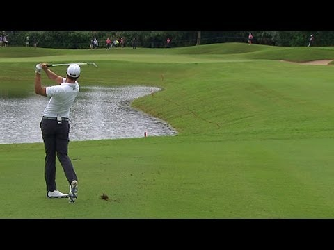 2013 Grand Slam of Golf: Day 2 tee shots, Adam Scott's tap in birdie