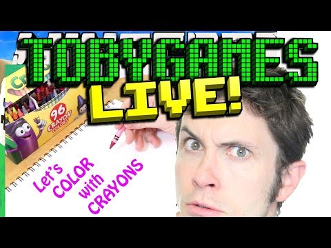 Let's COLOR with CRAYONS (with Tobuscus)
