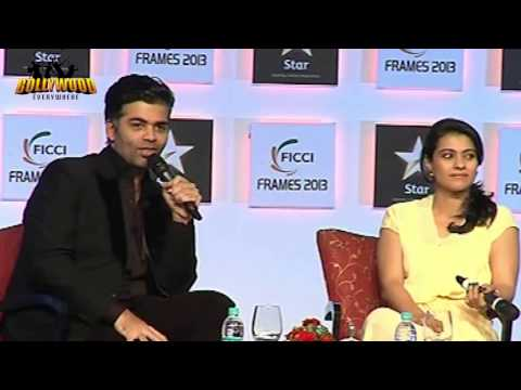 Kajol In Conversation With Karan Johar On Day 3 Of 'FICCI Frames 2013'