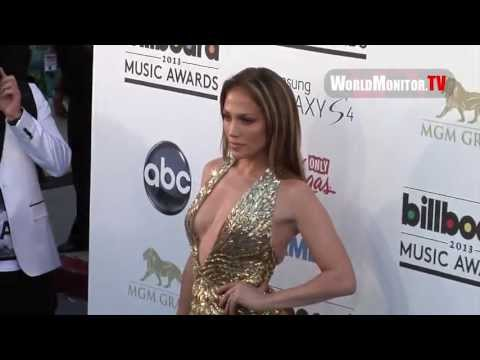 Jennifer Lopez 'JLO' arrives at Billboard 2013 Music Awards with Casper Smart