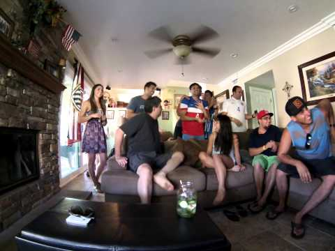 Reaction to goal #2 USA vs. Portugal '14 World Cup