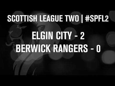 #SPFL League Two | Elgin City 2-0 Berwick Rangers | 07/12/13