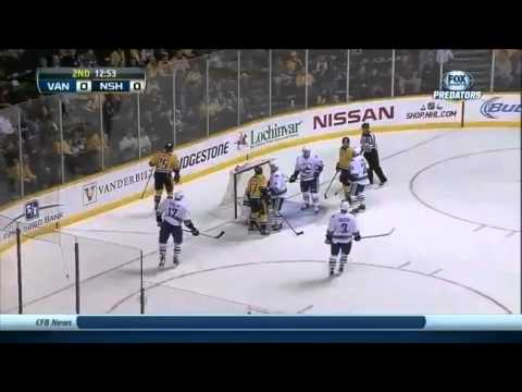 Vancouver Canucks vs Nashville Predators 03.12.2013