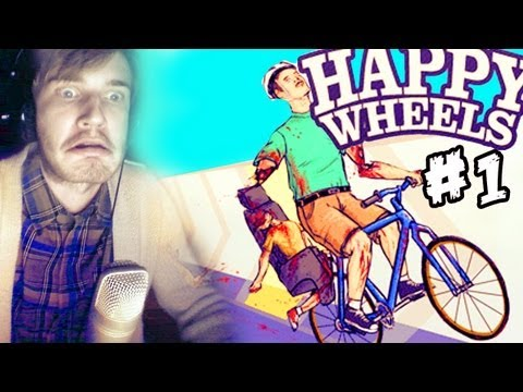 Happy Wheels - Part 1 - PewDiePie Lets Play, Happy Wheels - Part 1 - PewDiePie Lets Play