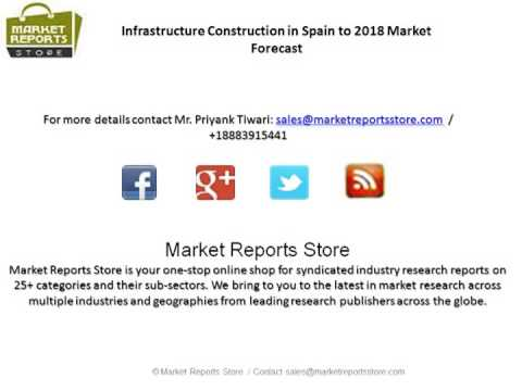Spain Infrastructure Construction Industry Analysis & Growth prospects to 2018
