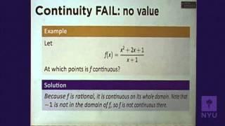 Calculus I - Continuity