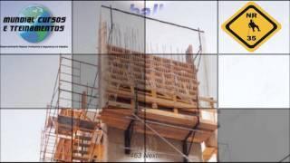 Trabalho em altura NR 35 Trabalhos em Altura 40h   - youtube