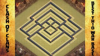 Clash Of Clans Best Th10 War Base With Replays!