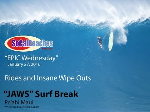 ''Epic Wednesday'' A Day of Surfing and Destruction at ''Jaws'' Maui