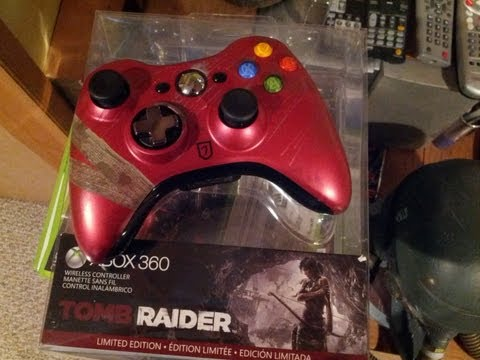 Tomb Raider - Xbox 360 Limited Edition Controller Unboxing!