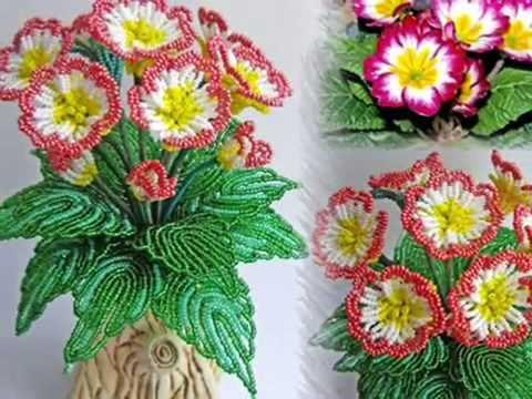 Цветы из бисера .  Вечная любовь.  Бисероплетение для начинающих (Гиацинт 1 ч.) Мастер-класс.